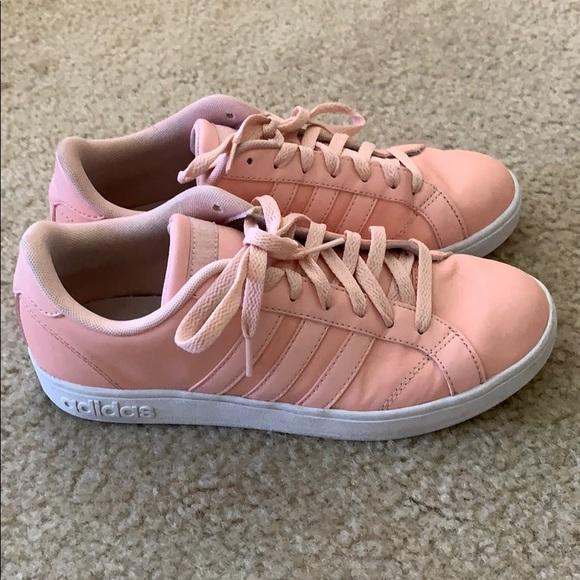 Pink Adidas Neo Cloudfoam Sneakers